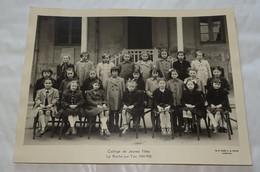 ANCIENNE PHOTO DE CLASSE LA ROCHE SUR YON, COLLEGE DE JEUNES FILLES 1949-1950 ( TOURTE PETITIN LEVALLOIS PARIS ), VENDEE - Photos