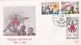 Enveloppe FDC 1360 à 1362 Rerum Novarum Namur - 1961-70
