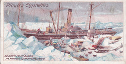9 Perrys Expedition 1900, The Diana -  Polar Exploration 1915 - Players Cigarette Card - Arctic - Antique - Wills
