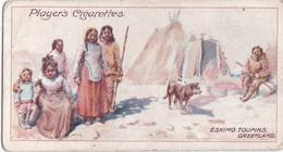 10 Eskimo Toupicks, Greenland -  Polar Exploration 1915 - Players Cigarette Card - Arctic - Antique - Wills