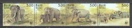 Sri Lanka 1986 Mi 753-756 MNH WWF ELEPHANT (MICHEL VALUE € 70) - Unused Stamps