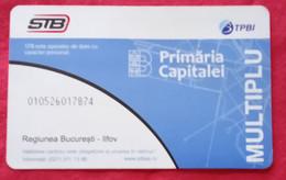 Romania-Ticket Card, Bucharest City,2021 Period - Sonstige