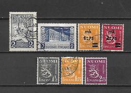 FINLANDIA - 1940 - N. 218 - N. 219 - N. 220/21 - N. 222/24 USATI (CATALOGO UNIFICATO) - Gebraucht