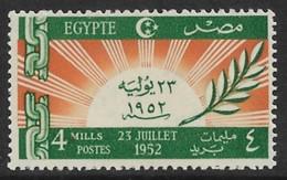 Egypt 1952. Scott #318 (MH) Dawn Of New Era - Unused Stamps