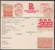 ALLEMAGNE - 1952 - Carte Enregistrement Machine Francotype Illustration Publicité - Advert - Reklame - Briefe U. Dokumente