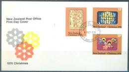 NZ - FDC - 6.10.1976 - CHRISTMAS  FROM WANGANUI - Yv 672-674 - Lot 23862 - FDC