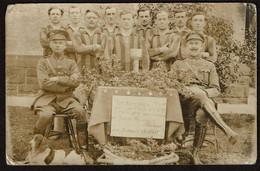 Carte Photo 1922 - Coupe - Football ? Lieutenant Ausloos, Commandant Platsier - Chien - Voir Scans - Andere