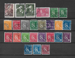FINLANDIA - 1945 - N. 287 - N. 288/302B - N. 303 X 2 - N. 304 USATI (CATALOGO UNIFICATO) - Gebraucht