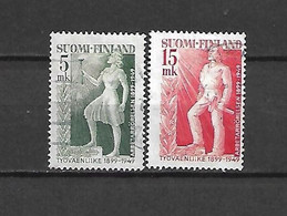 FINLANDIA - 1949 - N. 352/53 USATI (CATALOGO UNIFICATO) - Gebraucht