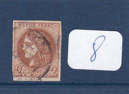 EMISSION DE BORDEAUX N°40B-OBL.TB-COTE> 330 EUROS-VSCAN-R080 - 1870 Bordeaux Printing