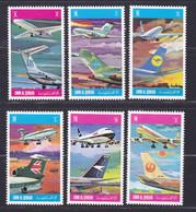 UMM AL QIWAIN 6 Valeurs ** MNH Neufs Sans Charnière, TB (D9627) Avions - 1972 - Umm Al-Qiwain
