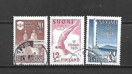 FINLANDIA - 1951 - N. 378 - N. 382/83 USATI (CATALOGO UNIFICATO) - Gebraucht