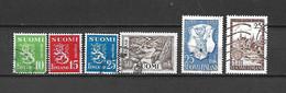 FINLANDIA - 1952 - N. 384/87 - N. 393 - N. 394 USATI (CATALOGO UNIFICATO) - Gebraucht