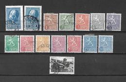 FINLANDIA - 1954 - N. 404 X 2 - N. 408/15A - N. 416 USATI (CATALOGO UNIFICATO) - Gebraucht