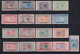 MAURITANIE - SERIE COMPLETE YVERT N° 17/33 ** MNH (QUELQUES * MLH) - COTE 2022 = 33/60 EUR. - - Unused Stamps