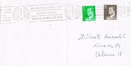 42088. Carta VILLARREAL De Los INFANTES (Castellon) 1984 A Valencia. Rodillo Correos - 1981-90 Storia Postale