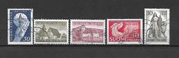 FINLANDIA - 1957 - N. 453 - N. 454 - N. 455 - N. 456 - N. 457 USATI (CATALOGO UNIFICATO) - Gebraucht