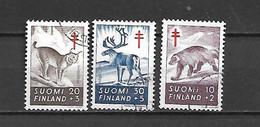 FINLANDIA - 1957 - N. 458/60 USATI (CATALOGO UNIFICATO) - Gebraucht