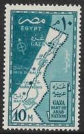 Egypt 1957. Scott #394 (MH) Map Of Gaza Strip *Complete Issue* - Ungebraucht