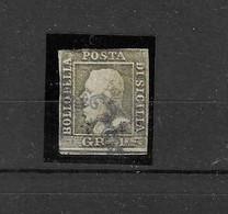 Italien - Sizilien - Selt. Gest. Besserer FM-Wert Aus 1859 - Michel 2 C! - Sicilië