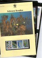1994 Nevis WWF Schwarze Korallen/Black Corals Komplettes Kapitel 4 **, 4 FDC, 4 MK + Beschreibung - Unused Stamps