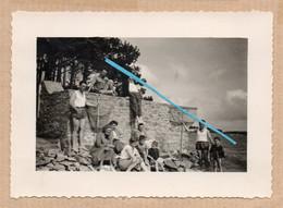 Dept 56 : ( Morbihan ) Baden, Photo, Un Coin De Plage, Epuisettes, Mer, Animée, Juin 1955. - Andere