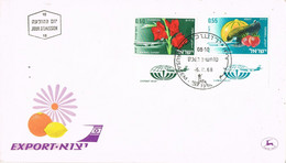 42093. Carta F.D.C. JERUSALEM (Israel) 1968. Flowers, Flores, Airmail Export - FDC
