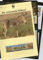 1994 Sudan WWF Afrikanischer Wildesel Komplettes Kapitel 4 **, 4 FDC, 4 MK + Beschreibung - Unused Stamps