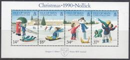 ISLE OF MAN Block 14, Postfrisch **, Weihnachten: Kinderspiele Im Schnee 1990 - Man (Insel)