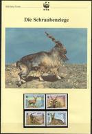 1995 Usbekistan WWF Schraubenziege/Markhor Komplettes Kapitel 4 **, 4 FDC, 4 MK + Beschreibung - Unused Stamps