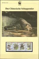1995 Macau WWF Chinesisches Schuppentier/Chinese Pangolin Komplettes Kapitel 4 **, 4 FDC, 4 MK + Beschreibung - Unused Stamps