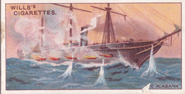 Celebrated Ships 1911 - Wills Cigarette Card - Celebrated Ships - 19 The Alabama, Confederate States - Wills