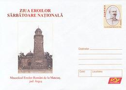 99330- MATEIAS MAUSOLEUM, WW1 HEROES MEMORIAL, WW1, HISTORY, COVER STATIONERY, 2005, ROMANIA - WW1 (I Guerra Mundial)