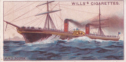 Celebrated Ships 1911 - Wills Cigarette Card - Celebrated Ships - 27 RMS Scotia, Cunard - Wills