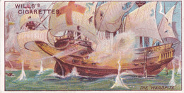 Celebrated Ships 1911 - Wills Cigarette Card - Celebrated Ships - 29 The Warspite - Wills