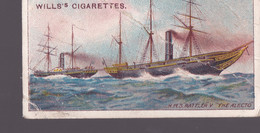 Celebrated Ships 1911 - Wills Cigarette Card - Celebrated Ships - 21 HMS Rattler V The Alecto - Wills