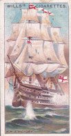 Celebrated Ships 1911 - Wills Cigarette Card - Celebrated Ships - 11 HMS Victory, Nelson, Trafalgar - Wills
