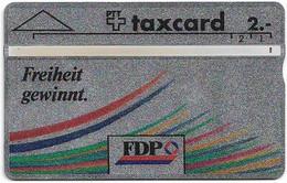 Switzerland - Swisscom (L&G) - K Series - K-91-26A - FDP - 104F - 04.1991, 2Fr, 7.000ex, Used - Schweiz