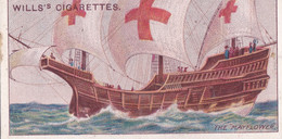 Celebrated Ships 1911 - Wills Cigarette Card - Celebrated Ships - 25 The Mayflower - Wills