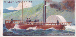 Celebrated Ships 1911 - Wills Cigarette Card - Celebrated Ships - 26 Ist Steamship, Charlotte Dundas - Wills