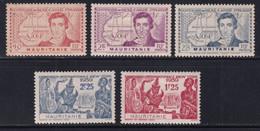 MAURITANIE - 1939 - YVERT N°95/99 * MLH - COTE 2022 = 7.25 EUROS - - Unused Stamps