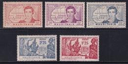 MAURITANIE - 1939 - YVERT N°95/99 ** MNH - COTE 2022 = 10.5 EUROS - - Unused Stamps