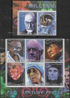 2000 Somalia Personajes Leyendas Del Siglo XX Freud-gandhi-de Gaulle-mao-churchill-madre Teresa-gagarin-armstron 8v.mint - Somalië (1960-...)