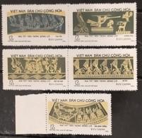 North Vietnam Viet Nam MNH Perf Stamps With Se-tenant 1973 : Ancient Engravings On Ngoc Lu Bronze Drum / Art (Ms276) - Vietnam