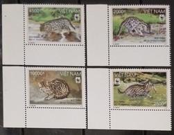 (WWF-456) W.W.F. Vietnam Viet Nam MNH Perf Stamps 2010 : Fishing Cat - Unused Stamps