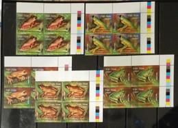Blocks 4 Of Vietnam Viet Nam MNH Stamps 2014 : Frog / Rhacophorus Owstoni / Chang Hiu (Ech Cay) (Ms1045) - Vietnam