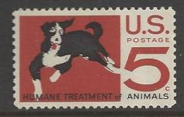 1966 5 Cents ASPCA, Dog, Mint Never Hinged - Unused Stamps