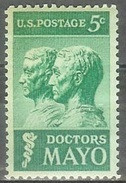 1964 5 Cents Mayo Doctors Mint Never Hinged - Unused Stamps