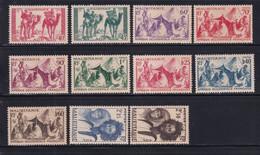 MAURITANIE - 1939 - SERIE YVERT N°105/115 SAUF 112A * MLH - COTE 2022 = 13.5 EUROS - - Unused Stamps