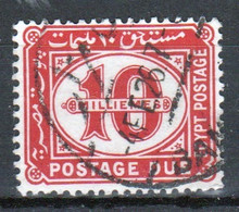 Egypt 1921 A Single 10m Postage Due Stamp In Used Condition. - 1915-1921 British Protectorate